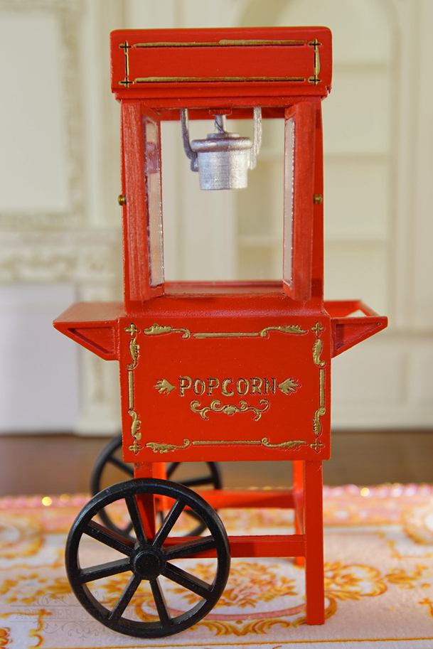 dollhouse 1  12furniture popcorn cart red gorgeous elegant hand crafted excellent