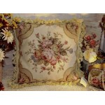"16"" Country Charming Vintage Soft Shabby Handmade Needlepoint Pillow Cushion"