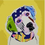 Abstract Modern Art -- Various Colorful Doggies-1