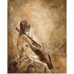 Girl Playing Cello Vintage