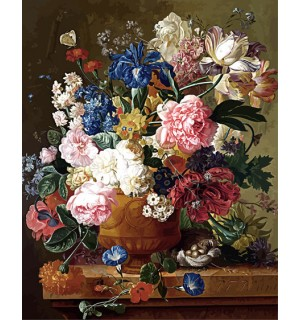 Beautiful Floral Bouquet Hand Painted Design Needlepoint Canvas