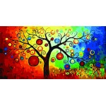 Abstract Tree With Fruits