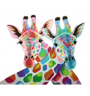 Colorful Giraffes Needlepoint Canvas For Beginners