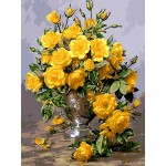 Yellow Roses In Urn