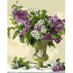 Purple & White Flowers In Urn Artistic