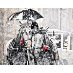 Horses On Snowy Day