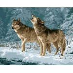 Winter Pair Of Wolves