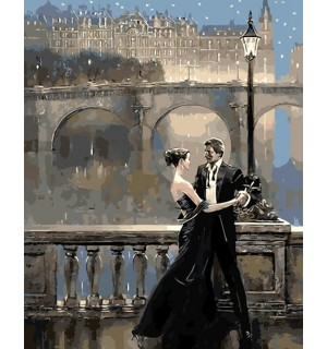 Man & Beauty Dancing Hand painted Design Needlepoint Canvas