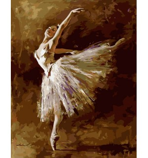 A Beautiful Ballerina Hand painted Design Needlepoint Canvas