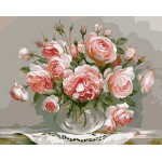 Beautiful Pink Roses In Urn Still Life