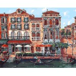 Italian Venice Hand Painted Design Printed