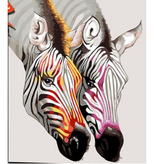 Colorful zebras Needlepoint Canvas
