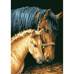 Mother & Kid Horses
