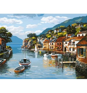 A Beautiful Water Town Needlepoint Canvas