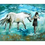 Lady Leading a White Horse