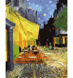 Old Cafe In Evening Needlepoint Canvas