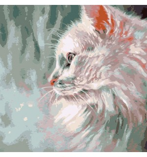 Portrait of a Persian Cat Needlepoint Canvas