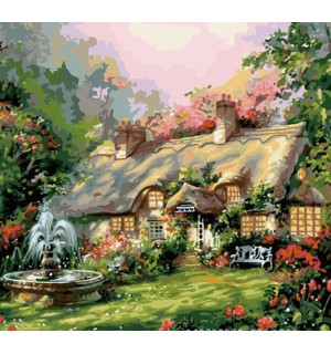 A Beautiful Country House Needlepoint Canvas
