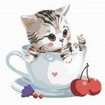 So Sweet Little Kitty In Cup