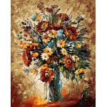 Daisies Flowers Oil Painting Style Design