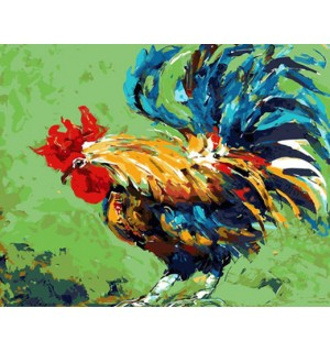 Huge Country Rooster Needlepoint Canvas
