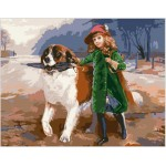Little Girl With Dog Gobelin Tapestry