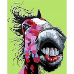 Crazy Donkey Hand Painted Design Printed