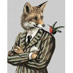 Mr. Fox Hand Painted Design Printed