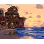 Seaside Exotic Cottage Hand Painted Design