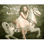 A Girl On White Horse