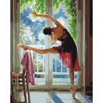 A Dancer Before Window Artistic Printed