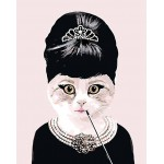 Madame Kitty Hand Painted Needlepoint Canvas