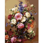 Beautiful Flower Arrangement Needlepoint Canvas