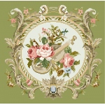 French Country Roses & Violin Needlepoint Kits