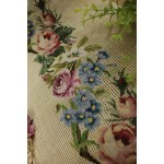 Preworked Bell Pull Needlepoint Canvas Roses All Petit Point 400K