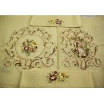 Set 4 Piece Large Preworked Needlepoint Canvas Young Lovers