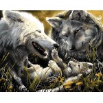 Wolf Families Needlepoint Canvas