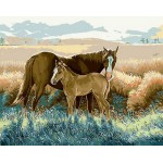 Horse & Baby Needlepoint Canvas