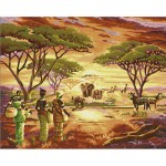 African Lady & Animals
