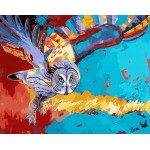 Colorful Owl Needlepoint Canvas