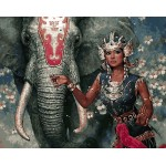 Tribal Beauty With Elephant