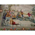 OLD/VINTAGE HANDMADE NEEDLEPOINT tapestry Wall Hanging