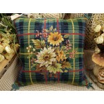 Daisy Bouquet Needlepoint Pillow
