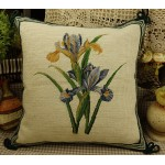 Hand Crafted Vintage Needlepoint Pillow Pansy
