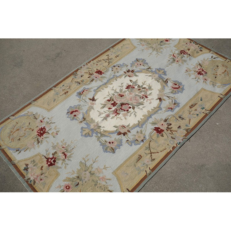 3 39 x 5 39 european vintage style needlepoint area rug carpet for Vintage style area rugs