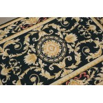 4' X 6' Vintage Renaissance Golden Vines Needlepoint Area Rug Aubusson Design