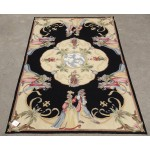 3' X 5' Handmade So Beautiful Rare Needlepoin​t Area Carpet THE WEDDING