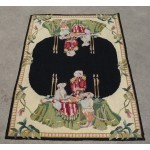 2' X 3' Handmade So Beautiful Portrait Needlepoint Area Rug Amazing Piece