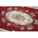 4' X 6'  NEW Woolen Handmade Beautiful Needlepoint Area Rug French Vintage Design