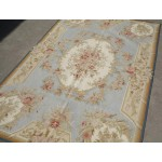 Needlepoint Carpet Area Rugpale Blue